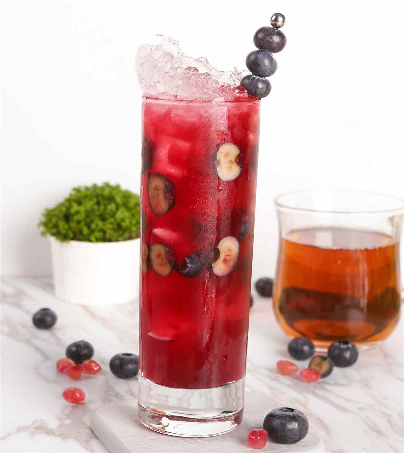 藍莓紅石榴烏龍茶